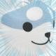 Reusable Face Mask: Grey Japanese Akita - Dog - Kawaii