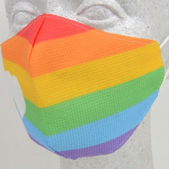 Reusable Face Mask: Rainbow