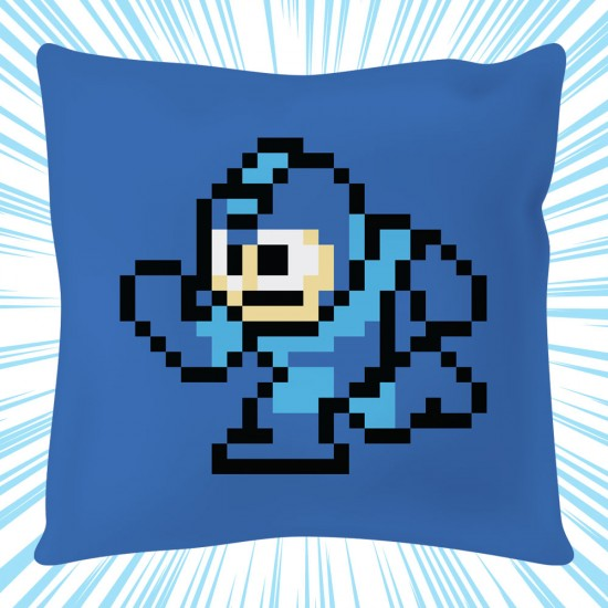 Mega Man 8-bit Square Cushion