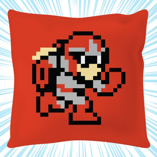 Mega Man: Protoman 8-bit Square Cushion