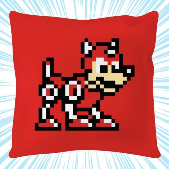 Mega Man: Rush 8-bit Square Cushion