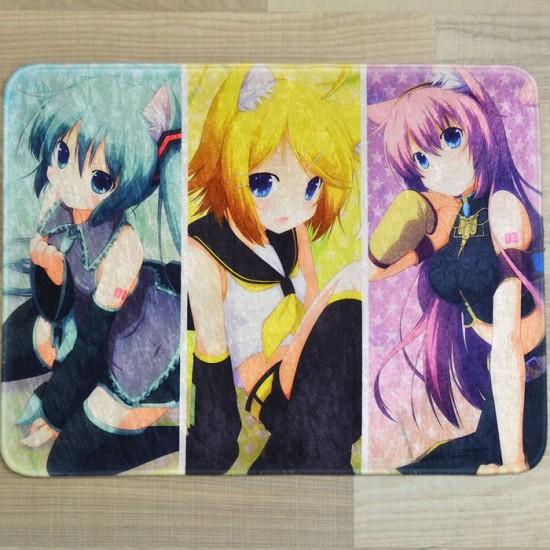 Hatsune Miku, Kagamine Rin & Megurine Luka Neko Cosplay Rug / Floormat