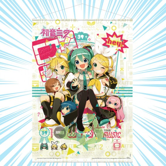 Hatsune Miku: Hey! Piapro Characters Wall Scroll