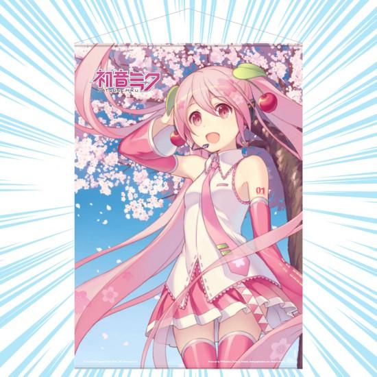 Hatsune Miku: Sakura Miku, Cherry Blossom Wall Scroll