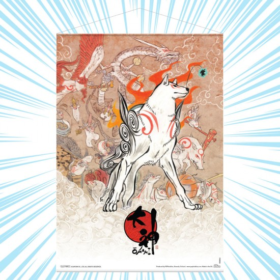 Okami: Amaterasu and Celestial Brush Gods Wall Scroll